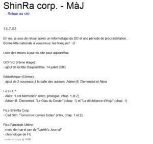 ShinRa corp. - MàJ